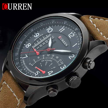 2015 New Fashion CURREN Brand Mens Luxury Watch Sports Watches Quartz Clock Hours Leather Strap Men Dress Waterproof Wrist watch