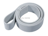 High standard strong AT5(5mm pitch) steel core double teeth size timing pulley belt/connection jointed belt