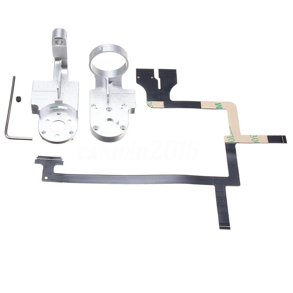 Drone piezas de reparación para DJI Phantom 3 Adv Pro 4 K Drone cardán Cámara Yaw Arm rollo soporte Cable Flex amortiguador cardán de montaje
