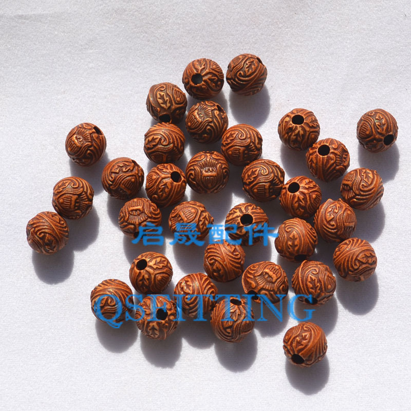 supply DIY fashion jewelry Accessory,Antique Acrylic Beads,Round shape,10MM,Brown Color