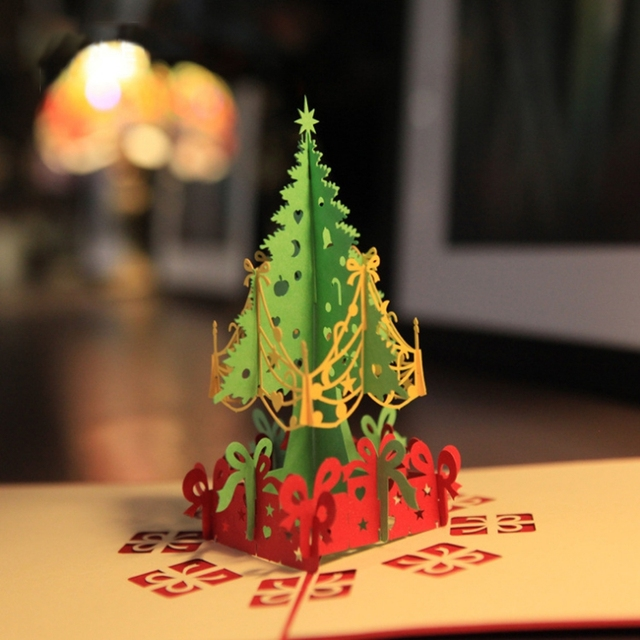 2015 personalized merry christmas card tree 3d effect greeting cards 2015 personalized merry christmas card tree 3d effect greeting cards handmade christmas gift card best prices m4hsunfo