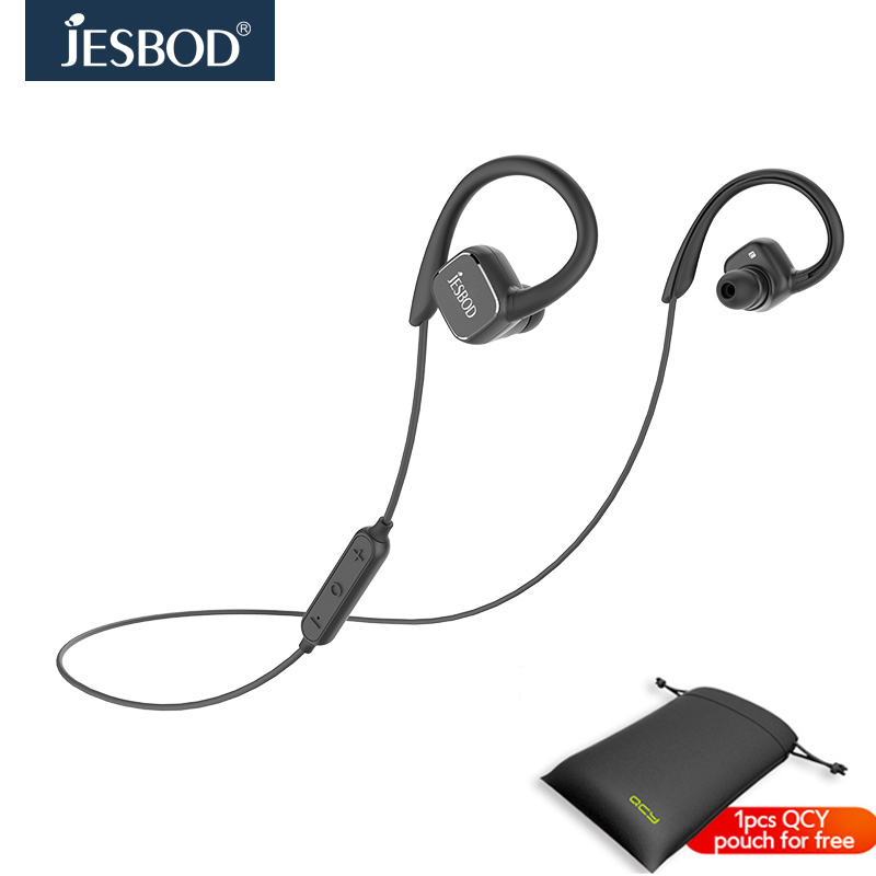 Jesbod QY13 Magnetic Wireless Bluetooth Headset with Mic Noise Cancelling Earphone Original English Voice Earbuds for
