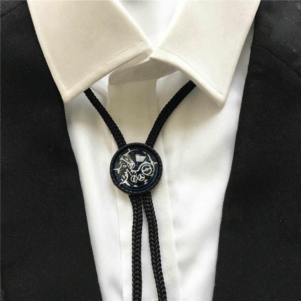 Oglądaj ruch unikalne mężczyźni kobiety moda Bolo Tie chłopcy dziewczęta studenci biżuteria muszki szyi nosić jako prezent