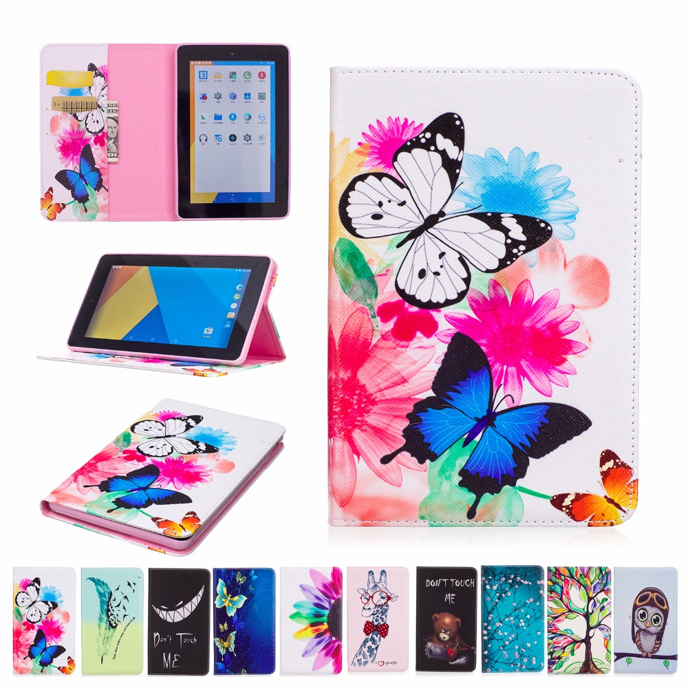2017 Hot Sale For Amazon Kindle Fire 7 2015 Cover Flip PU Leather Painting Case Book Stand Tablet Smart Ultra Slim Shell+Gift pu leather ebook case for kindle paperwhite paper white 1 2 3 2015 ultra slim hard shell flip cover crazy horse lines wake sleep