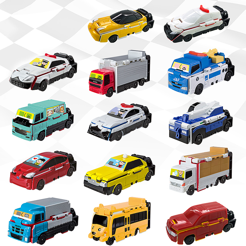 Bandai VooV Transforming Rescue Police Transporter Engineering Plastic  Model Vehicle Toy Cars Kids Gift New