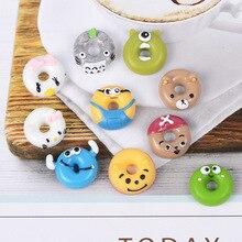 8 шт. пончик добавки подвески для слизи DIY конфеты полимерный наполнитель дополнение клейкие аксессуары игрушки Моделирование комплект глины для детей