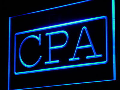 i979 CPA Certified Public Accountant Decor Light Sign On/Off Swtich 20+ Colors 5 Sizes