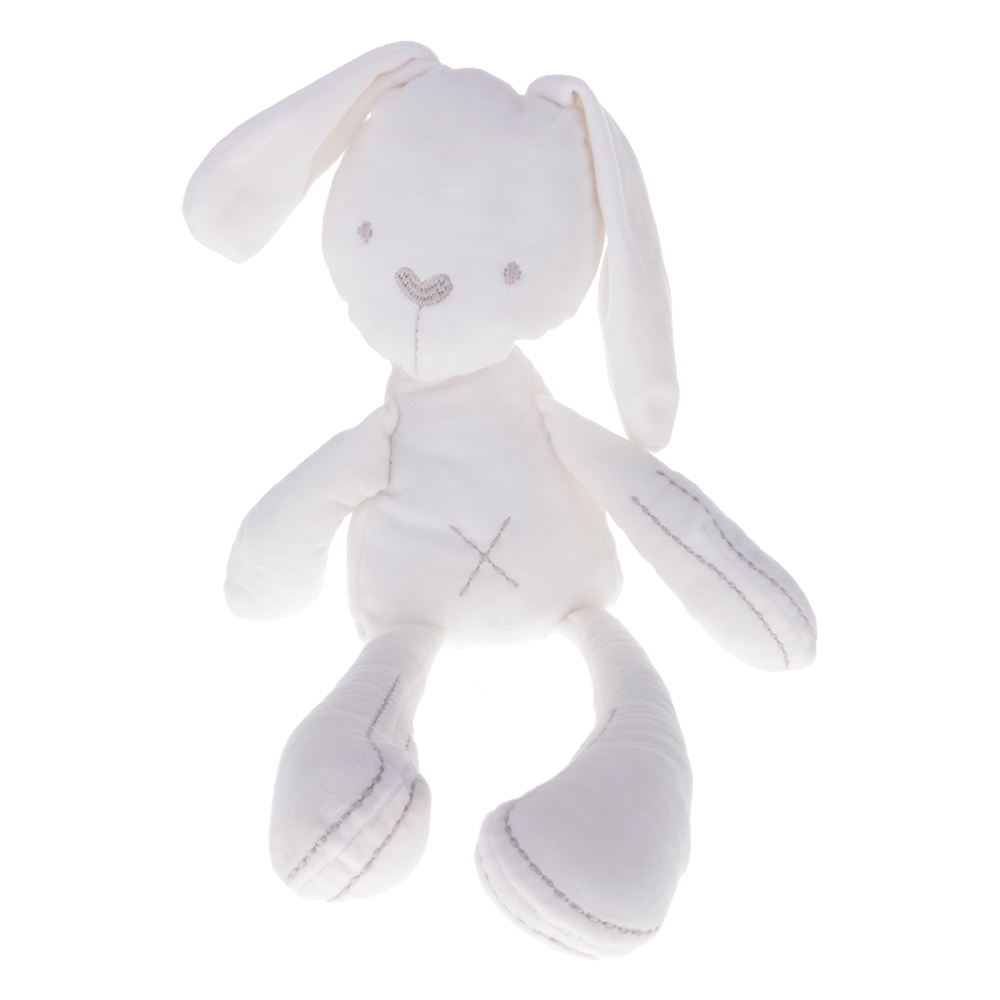 Baby Sleeping Rabbit Bunny Slumber Doll Soft Plush Stuff Toys Infant Kid Soother