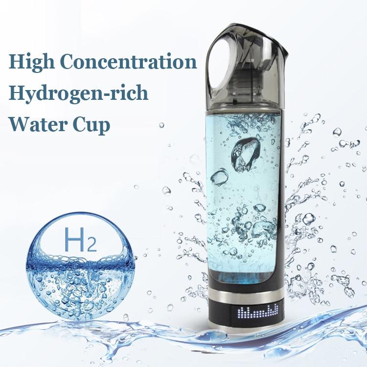 USB перезаряжаемая богатая Водородная вода генератор Lonizer бутылка щелочной энергии портативная Антивозрастная водородная богатая бутылка д...