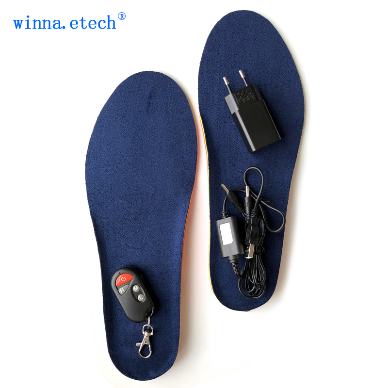 New winter wireless heating insoles outdoor ski insole the mens foot pad battery charging insoles to keep the feet warm