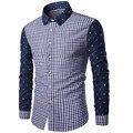 2016 Brand Summer Men Shirt Fashion Men Breathable Long-Sleeved Shirt Plaid Dress Shirt Plus Size Camisa Masculina Shirts Homme