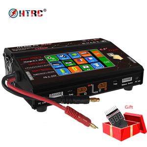 """HTRC RC Balance Charger HT306 DC DUO 600W*2 30A*2 Dual Port 4.3"""" Color LCD Touch Screen for Lilon/LiPo/LiFe/LiHV Battery"""