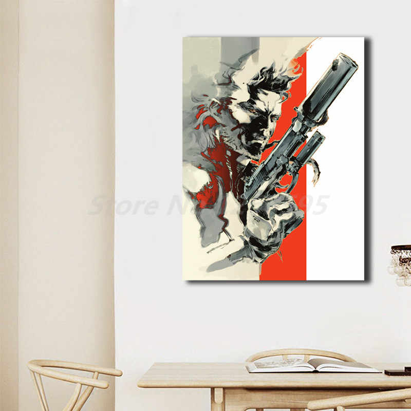 Metal Gear Solid 2 Sons Of Liberty Hd Poster Su Tela Stampe Arte Murale Pittura Immagine Decorativa Moderna Decorazione Domestica Opere D Arte Painting Calligraphy Aliexpress