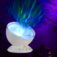 Rotating Crystal Panel Stage Lamp Star Sky Ocean Wave USB Stage Lights Include Music Projector Lamp Touch Rometo Control Speaker