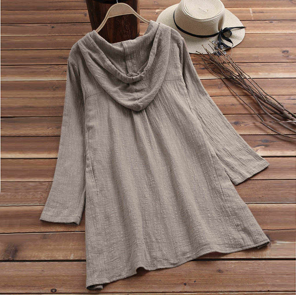 Бесплатная Страусиная одежда, женское повседневное хлопковое льняное платье большого размера с пуговицами, топы, футболка с карманами, клетчатое свободное платье-футболка большого размера d