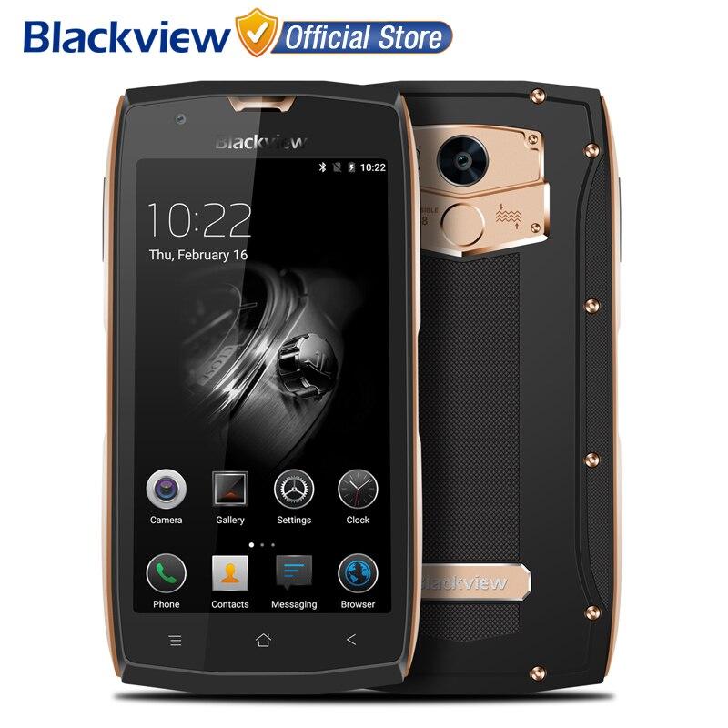 Цена за Blackview mtk6737t bv7000 мобильный телефон 5.0 дюймов fhd quad core android 7.0 2 ГБ RAM 16 ГБ ROM 8MP Водонепроницаемый IP68 NFC 4 Г Мобильного Телефона