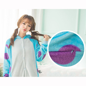 Image 5 - Monster Sullivan Kigurumi Pyjama Frauen Tiere Onesie Anime Cosplay Kostüm Erwachsene Flanell Maskottchen Set Teil Winter Warme Nachtwäsche
