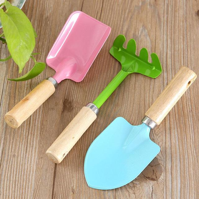 3Pcs/Set Baby Educational Toys Tool Kit Children Mini Garden Tools Spade  Classic Plastic Toy