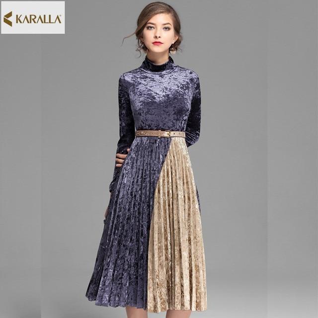 2017 Women Spring Summer Runway Fashion Short Sleeved Dress Charm Retro Elegance Trend Pretty Designer One