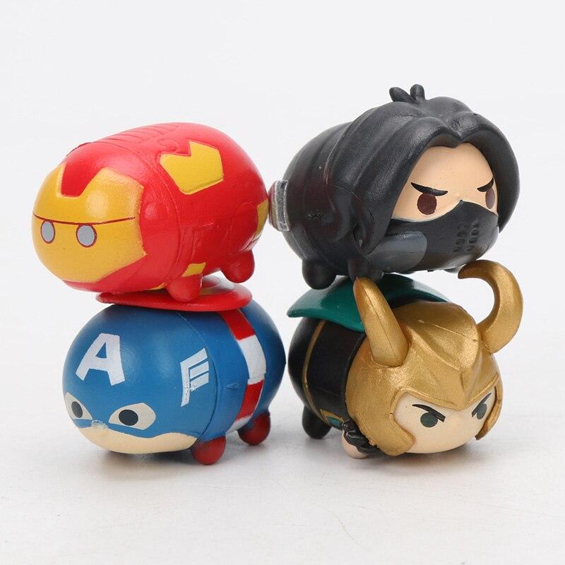 3.5*2cm 8pcs Marvel Toys Tsum Tsum The Avengers 3 Infinity War Spiderman Ironman Hulk Venom Thor Action Figure Set Model Dolls #4