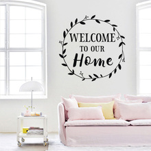Welcome to our Home Wall Sticker Living Room Kitchen Bedroom Poster Mural Home Decor Vinyl Art Removable Decals Beauty W199 3d bridge floor wallpapers sticker wall removable mural decals vinyl art room for living room bedroom background wall home decor