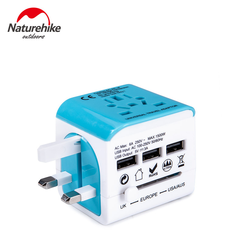 Naturehike All In One Universal International Plug Adapter USB World Travel Power Charger Adaptor AU US UK EU Converter Stool