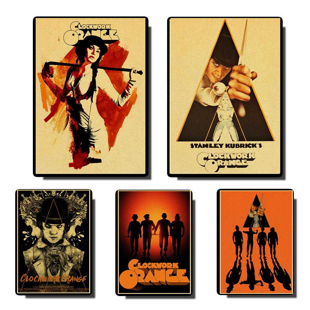 A Clockwork Orange Vintage Posters Prints Wall Painting High Quality Decor Poster Wall Painting Home Decoration