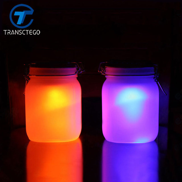 TRANSCTEGO Led Night Lamp Solar Bottle Light Birthday Gift Garden Lamps  Nightlight Mood Lighting Sensor Luminaria