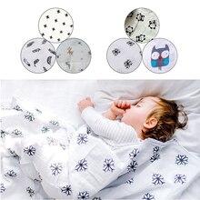 3pcs/box Baby Boy Girls Cotton Newborn Blankets Washable Premium Reusable Nappy Diapers Wipes Bath Cloth Towel Blanket 120*120cm