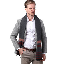 New Winter Classic Atmospheric Stripe Mens Scarf Cashmere Neck