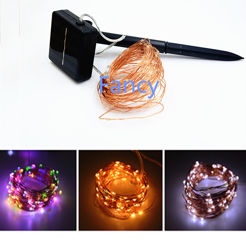10M 33FT 100 LED Solar Power LED String Fairy Light Outdoor For Christmas Party Garden