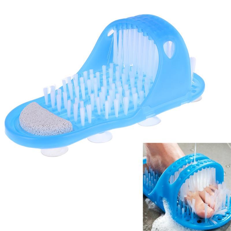Baño de plástico zapato piedra pómez pie depurador ducha cepillo masajeador zapatillas para los pies de productos de baño pie cuidado azul
