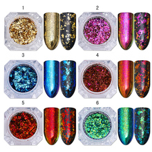 BORN PRETTY Chameleon Nail Glitter Sequins Irregular Flakes Paillette Nail Art Flakies Manicure Decoration