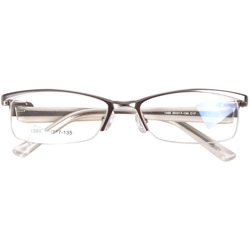 7e044dc6bbad 2019 Prescription Glasses Eyeglass For Women Silver Half Rim Italy ...