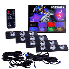 1set USB LED Car Atmosphere Ambient Star Light RGB Colorful Music Sound Lamp Remote Control Interior Decorative Light 6x led strips motorcycle car styling air atmosphere interior light rgb 16 color ambient infrared remote wireless music control