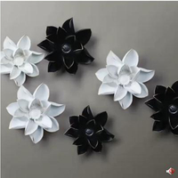 3D Three Dimensional Wall Stickers Flowers Lotus Wall Decorations Creative Resin Handicrafts