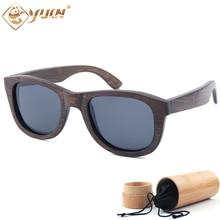 Hot sale bamboo glasses classic style polarized sunglasses men fashion big size wooden oculos masculino de sol B2018