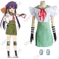 Gakkou Gurashi!/ SCHOOL LIVE! Ebisuzawa Kurumi Cosplay Costumes school uniform Halloween women School girl suit top+skirt+acc