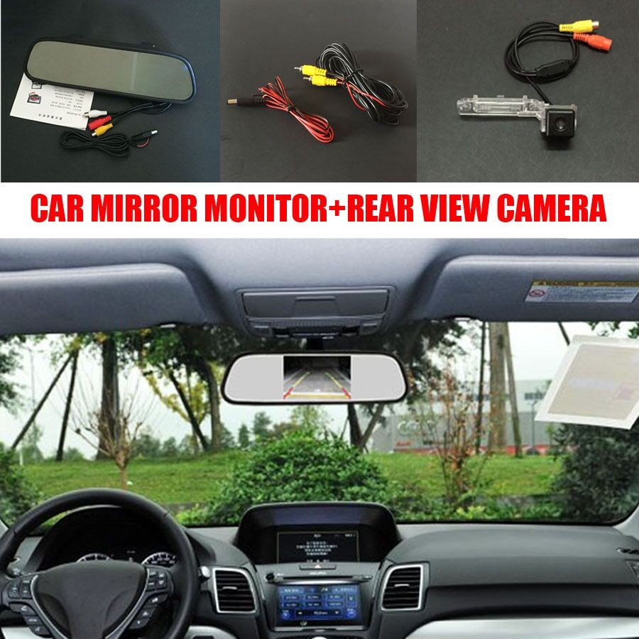 5 inch lcd car parking mirror monitor car rear view camera for volkswagen vw transporter t5. Black Bedroom Furniture Sets. Home Design Ideas