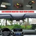 5 polegada LCD Carro Estacionamento Espelho Monitor + Car Rear visão da câmera para volkswagen vw transporter t5/caravelle/Multivan
