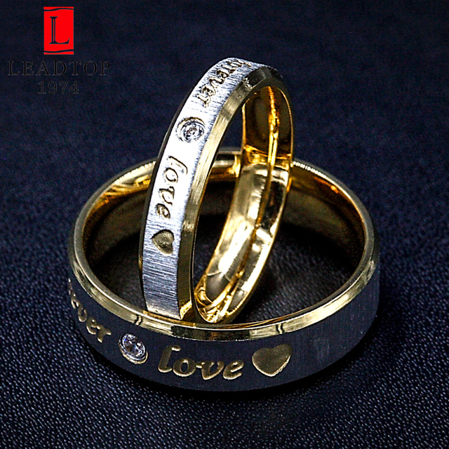 fashion forever love gold wedding rings women eternity engagement jewelry lot wholesale in stainless steel - Wedding Ring For Women