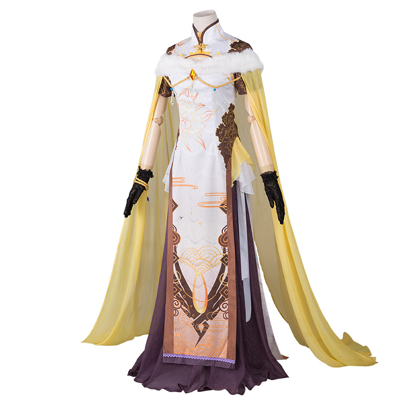 Cosplay Game Overwatches Angel Chinese style Cheongsam Dignified Dress Clothes Cos costume