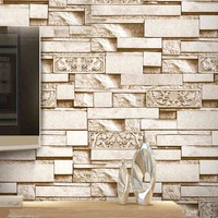 3D Stereo Brick Wallpaper Features Hot Pot Restaurant Hotel Clothing Store Embossed Carved Brick Wallpaper Papel