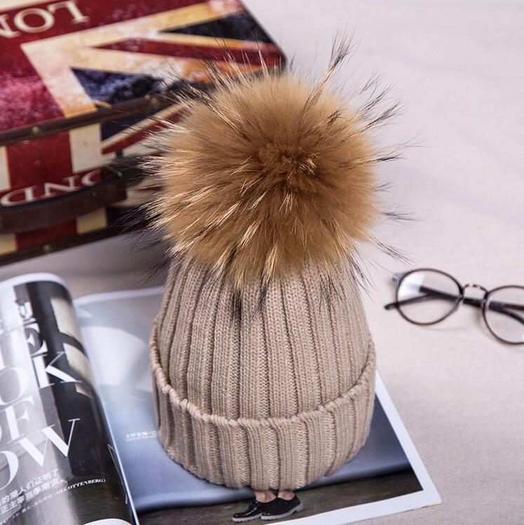 #1807 Warm winter hats for women Fur hat girls Fashion Hairball Toca feminina Gorras mujer beanies for women Casquette