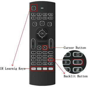 Image 4 - MX3 backlight Voice Air Mouse keyboard Russian English 5 IR Learning keys for Android Smart TV Box pc PK G30 G30s Remote Control