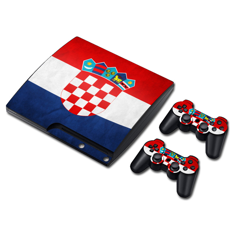 1045 Croatia National Flag Host  Console Vinyl Decal Stickers Case Skin for SONY PlayStation 3 P3Slim Console