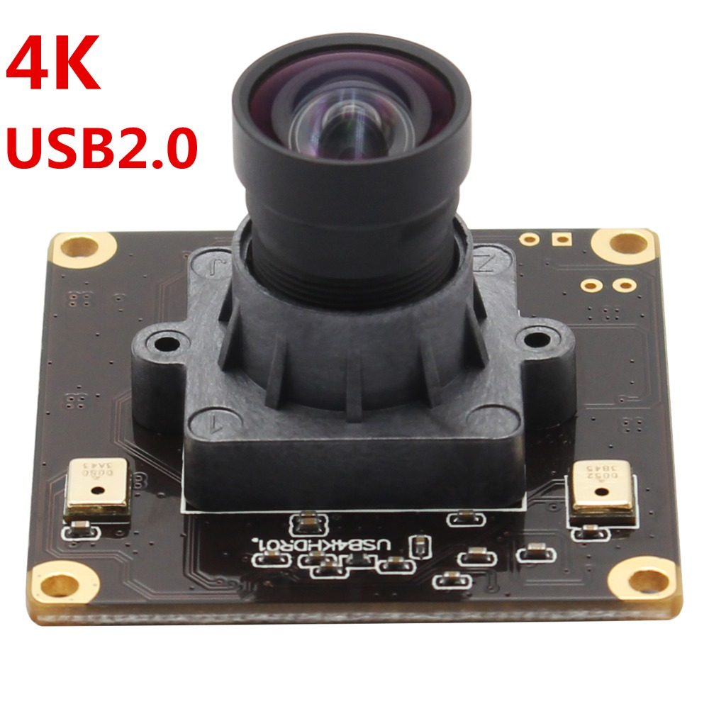 No distortion 4K 3840x2160 USB Webcam Mini 38 38mm USB Camera module for Windows Android Linux