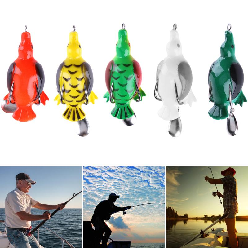 1Pc 13g 6.5cm Fishing Lure Artificial Duck Soft Bait Sinking Fishing Wobblers Frog Lure Baits Carp Fishing Accessories Pesca anmuka frog fishing lures kit snakehead lure topwater floating frog baits with box pesca isca artificial