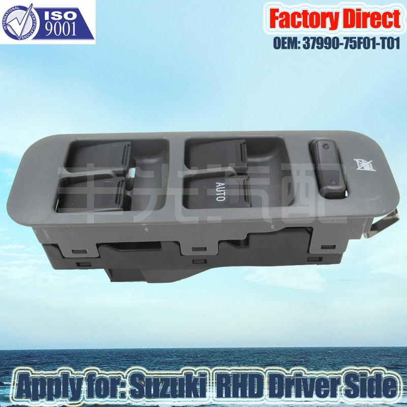 Factory Direct Auto Power Window Switch Apply For Suzuki Suzuki Auto Window Switch 10Pins 37990-75F01-T01 RHD Right Driver Side