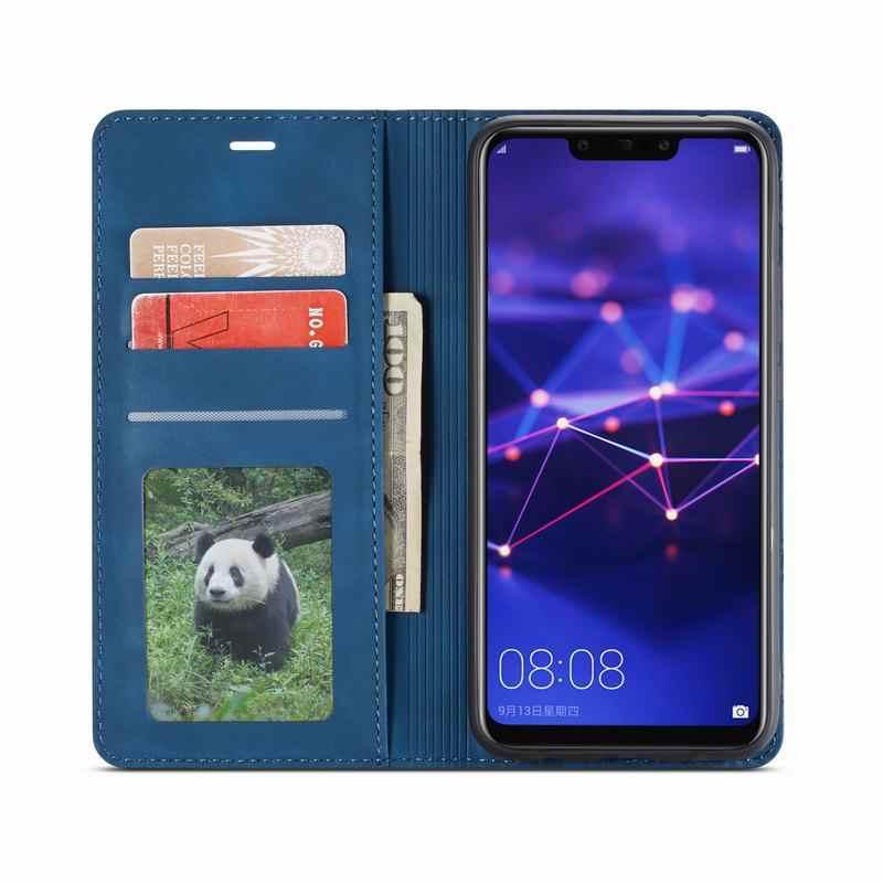 Telefoon Gevallen Voor Huawei Mate 20 Lite Pro Case Cover Luxe Magnetische Flip Plain Wallet Kickstand Lederen tas Mate20 Lite pro Coque